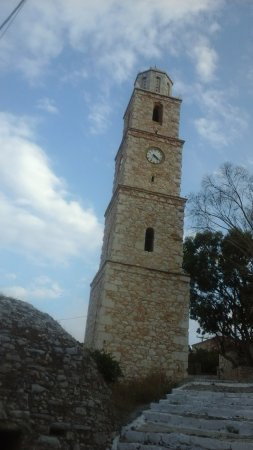 Halki, Greece: The clock tower