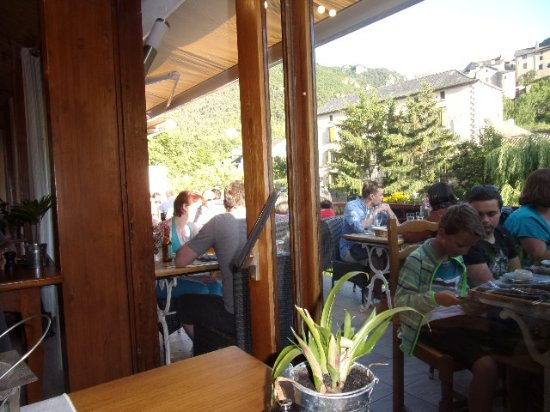 Le Rozier, France: Terrasse