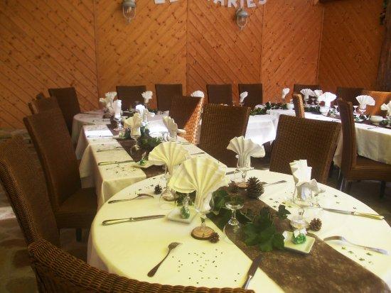 Restaurant Les Tilleuls : Détail de la décoration des tables