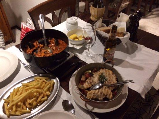 Luka Sarajevo: Seafood risotto and Dalmatian chicken