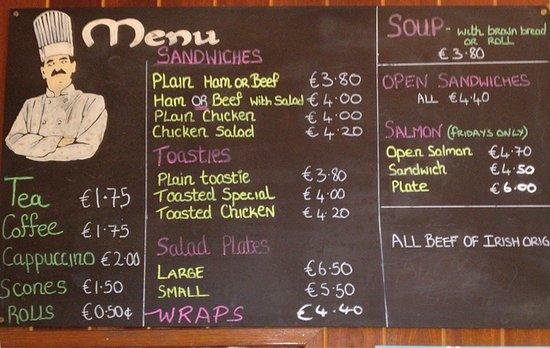 Fermoy, İrlanda: Frokostmenuen i a sin enkelhed. Fremragende mad til meget rimelige priser