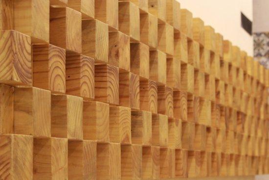 wooden wall panel picture of haneefa restaurant coimbatore