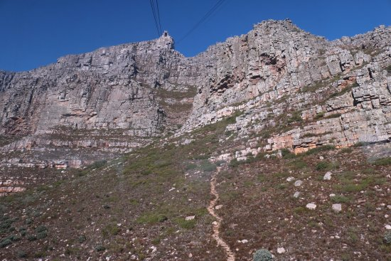 Camps Bay, Sudáfrica: cable way up to the table top