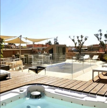 terrasse et jacuzzi picture of riad houma marrakech tripadvisor. Black Bedroom Furniture Sets. Home Design Ideas