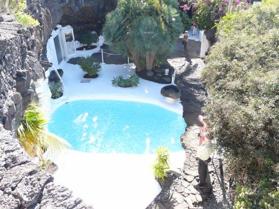 Pool In One Of The Lava Bubbles Picture Of Fundacion Cesar Manrique Costa Teguise Tripadvisor