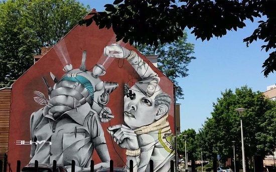 Heerlen, هولندا: Heerlen Murals Ethos door ©Claudio centrum bij Theater Heerlen foto Wilma Lankhorst