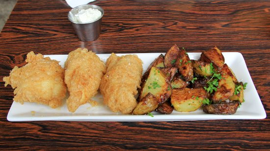 Icelandic Fish & Chips: Cod and excellent potatoes along with a light tasteful sauce