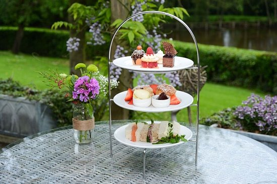 The Pheasant Hotel: Afternoon tea on the terrace