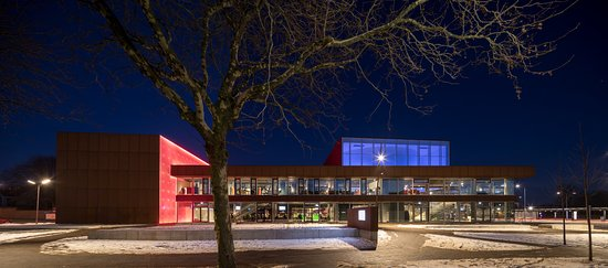 Hjorring, Denmark: Vendsyssel Teater - by night