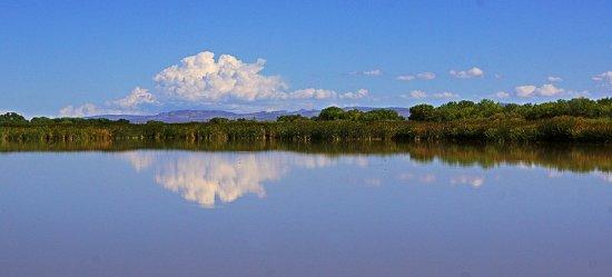 San Antonio, NM: Blick vom Steg über den See