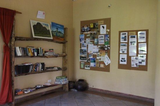 Pakachere Backpackers: Library and information boards