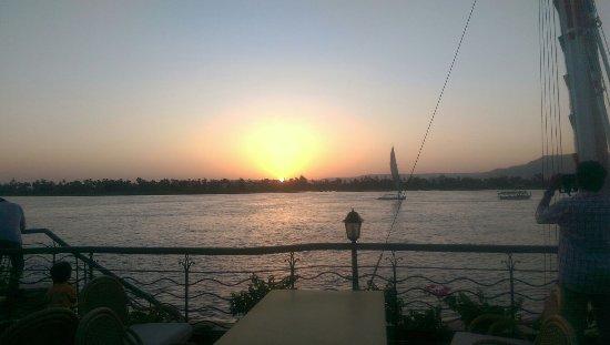 Steigenberger Nile Palace Luxor: sunset>>amazing view