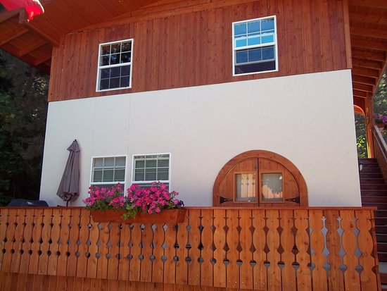 Haus Hanika: Chalet exterior.  The Chalet suite is the lower floor with private balcony.