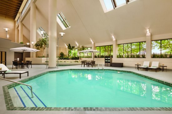 Saint Louis Park, Миннесота: Salt Water Pool and Hot Tub area are perfect for relaxing and playing