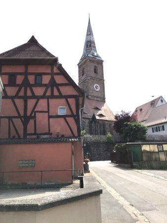 Wolframs-Eschenbach, Deutschland: Church in Center of Town, beautiful interior