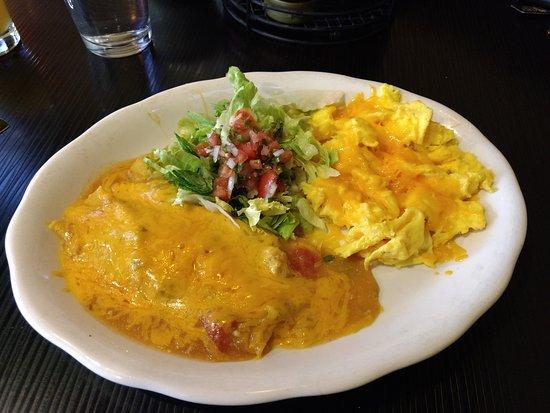 The Northern Pines Restaurant: Pork enchiladas with eggs