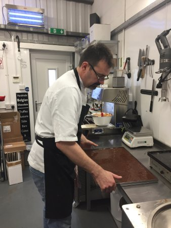 Mawdesley, UK : The main man at work. Mr Wonka himself.