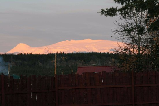 Copper Center, AK: View of Mt. Wrangell (16,000+ feet ) from property.