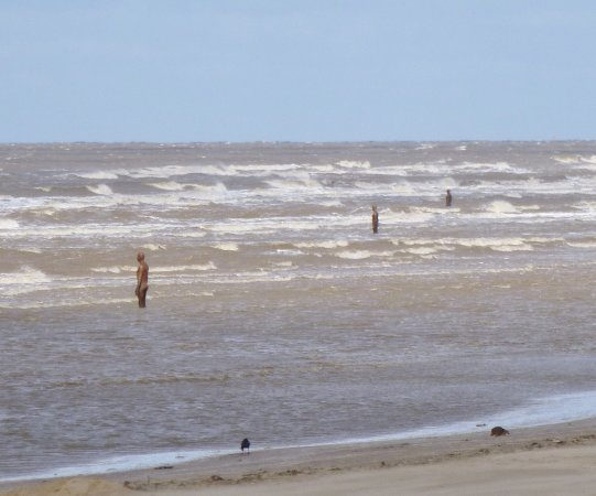 Crosby Beach 100 Statues On The Called Another Place By Antony Gormley