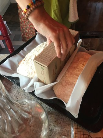Colazza, Italy: Ciabatta getting ready for the final rise:)
