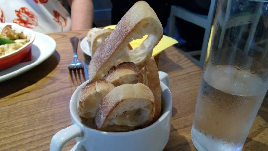 Huyton, UK: Bread with the pate