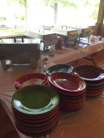 Pipestem, Virginia Occidental: Buffet set up on our deck