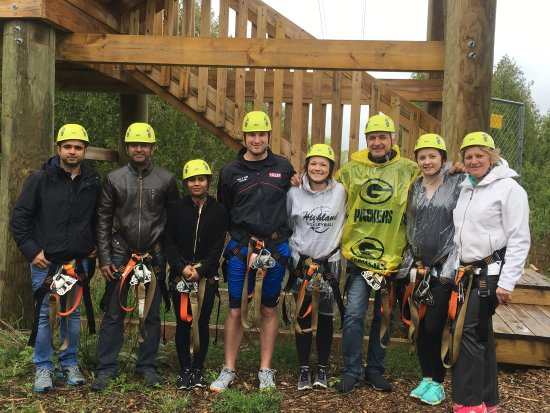 Baileys Harbor, WI: Enjoying beautiful summer days out here on the Zipline! Come on out and try our Race Zip and new