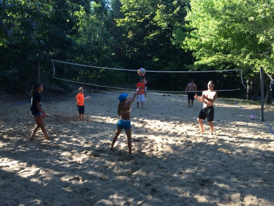Coloma, MI: Beach volleyball court