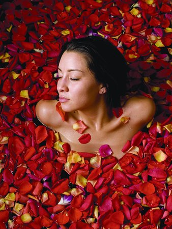 Absolute Nirvana Spa & Gardens: Immerse yourself in a sea of rose petals after a relaxing Master's Massage....
