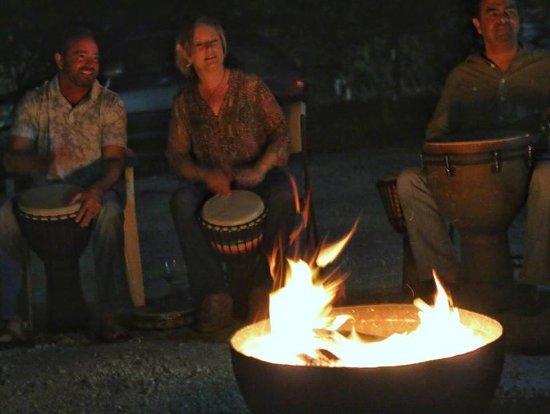 Indiantown, Floride : Drum circle