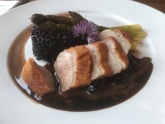 Seaview, WA: The duck with black rice and wicked delicious sauce