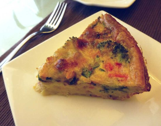 Old Fort, Carolina del Nord: Ham and veggie quiche is a favorite