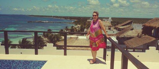 Mahahual Beach Roof Top Pool At Blue Reef Hotel Restaurant Village
