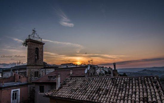 panorama dalla camera al tramonto