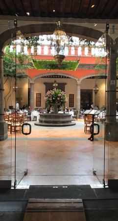 Beautiful hacienda and tasty and filling food