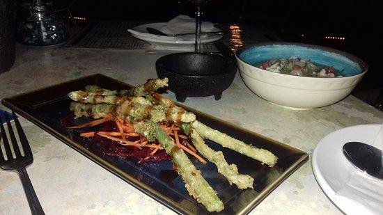 Ketch : Groene asperges in tempura