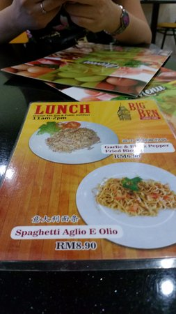 This is their special Lunch Menu which are under RM10