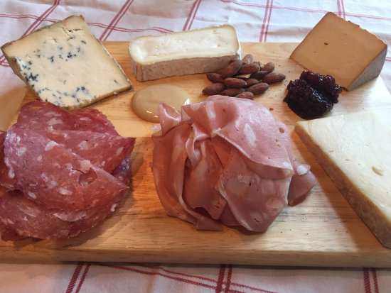 Georgetown, TX: Charcuterie board made from cheese & meat from Stanzeski's