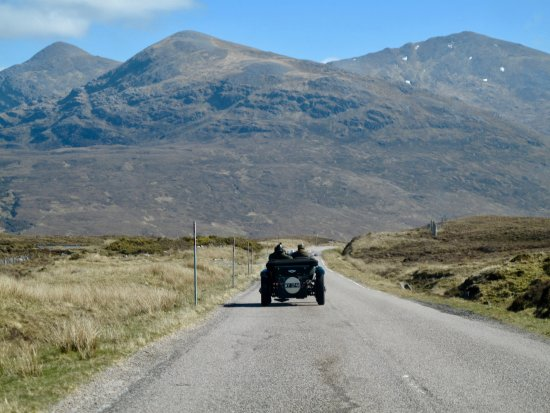 Torridon, UK: Brian and Carl on the road in their magnificent auto