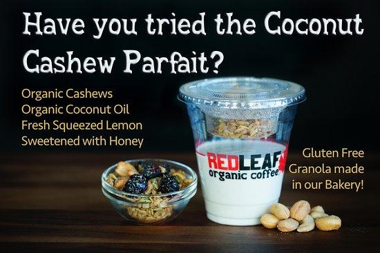 Longview, WA: Coconut Cashew Parfait. Gluten free!