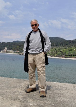 Mt. Athos Peninsula, Greece: Waiting for the ferry on Mt. Athos