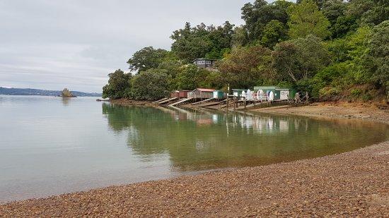 Waiheke Island, New Zealand: Serene Rocky Bay, near to the iWalkWaiheke Guesthouse