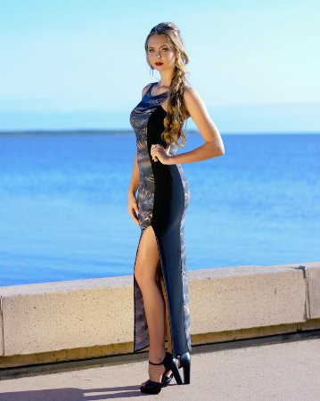 Long Illusion Dress In Taronga By Australian Fashion Designer Sajeela Jamie Made In Cairns Picture Of Wild Sugar Cairns Tripadvisor