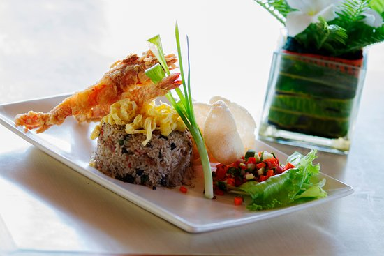 Desa Sekotong Barat, Indonesien: Nasi goreng lebui is as the authentic of our Asia restaurant