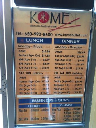 Kome Restaurant Near