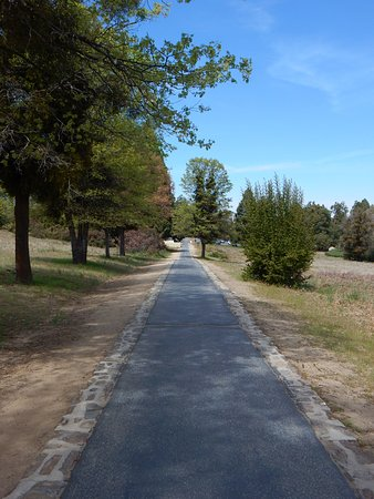 Palomar Mountain, Kalifornien: This path is coming from the parking lot and 1st building with the museum.