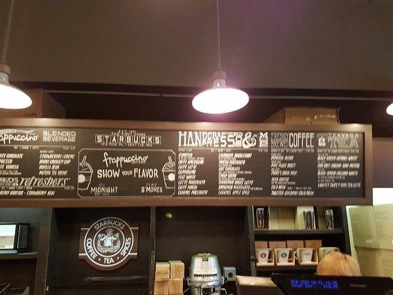 menu board - Picture of Starbucks, Seattle - TripAdvisor
