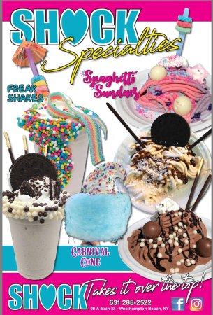 Westhampton Beach, نيويورك: Follow the Turquoise Ice Cream Cone down the Alley Behind Baby Shock for the Greatest Selection 