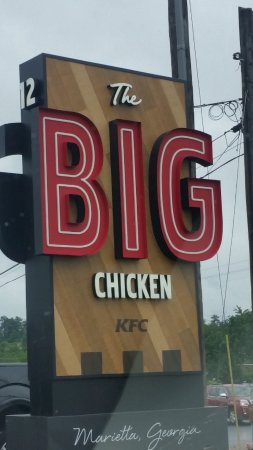 a new sign for the big chicken kfc picture of kfc marietta