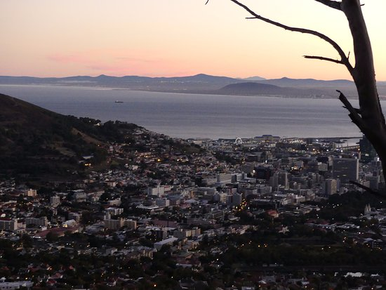 Table Mountain Walks: At dawn, as we began our hike (bottom of TB)